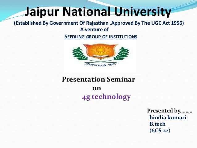 Jaipur National University(Established By Government Of Rajasthan ,Approved By The UGC Act 1956)                          ...