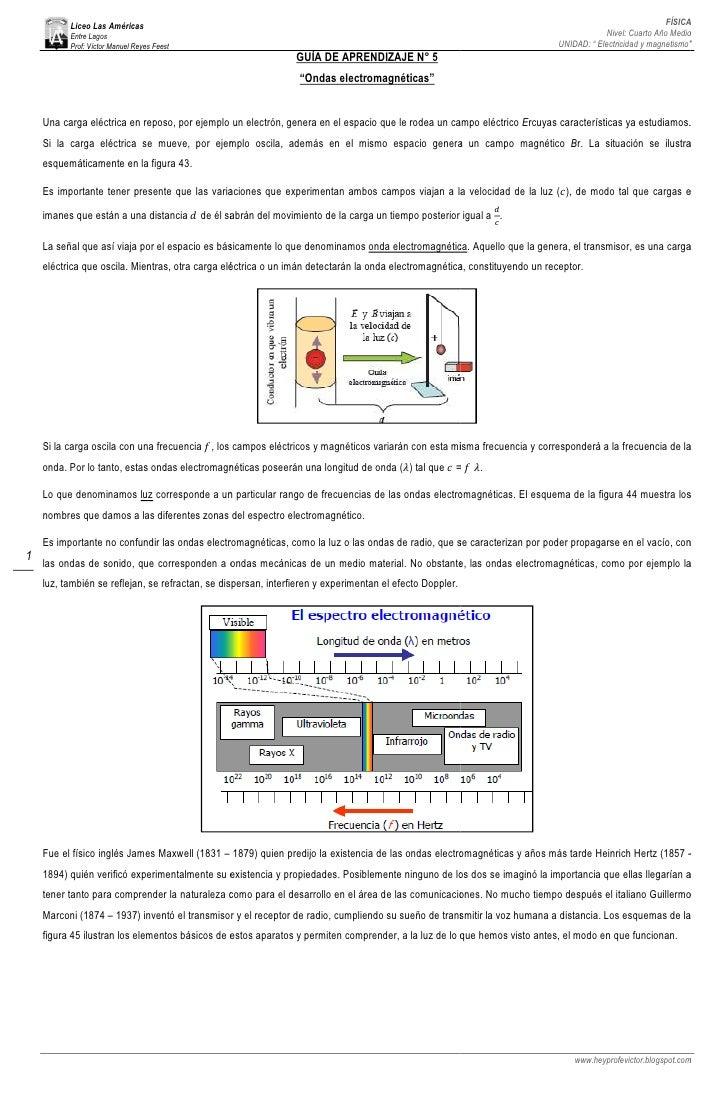 4°, GuíA V, Ondas ElectromagnéTicas