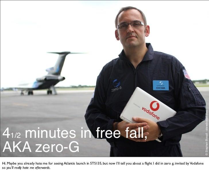 4 & 1/2 minutes in zero g