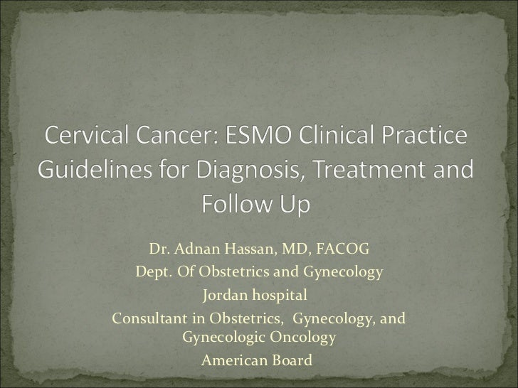 Dr. Adnan Hassan, MD, FACOG Dept. Of Obstetrics and Gynecology Jordan hospital  Consultant in Obstetrics,  Gynecology, and...