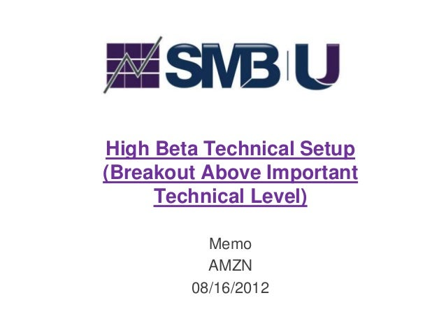 High Beta Technical Setup(Breakout Above Important     Technical Level)          Memo          AMZN        08/16/2012