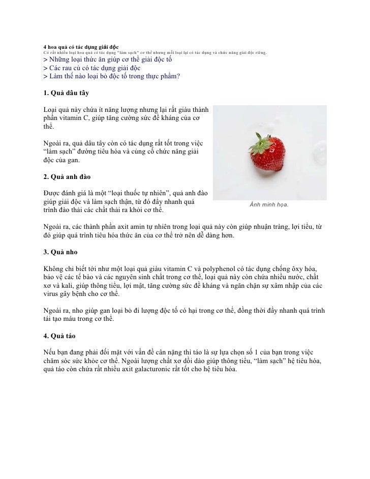 """4 hoa quả có tác dụng giải độc <br />Có rất nhiều loại hoa quả có tác dụng """" làm sạch""""  cơ thể nhưng mỗi loại lại có tác d..."""