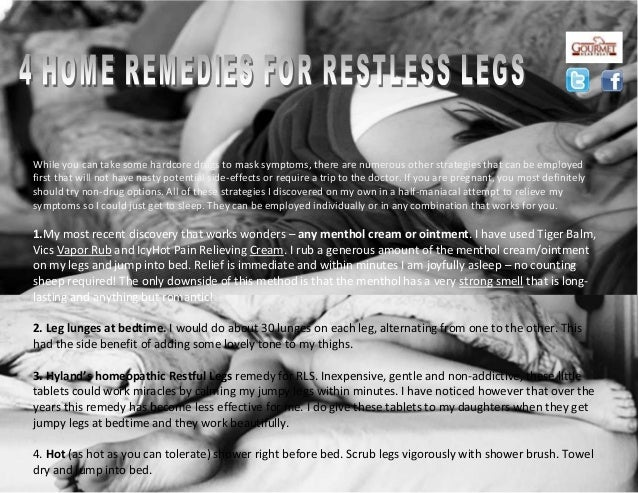4 home remedies for restless legs