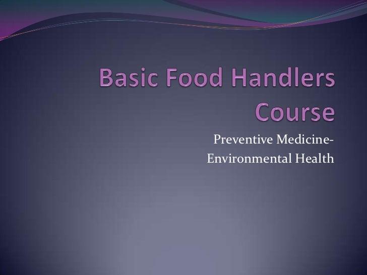 4 hour food handlers class
