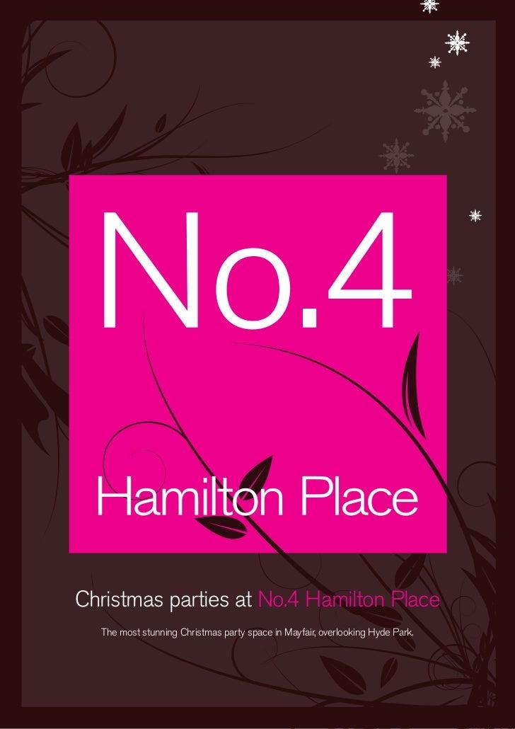Christmas at No.4 Hamilton Place