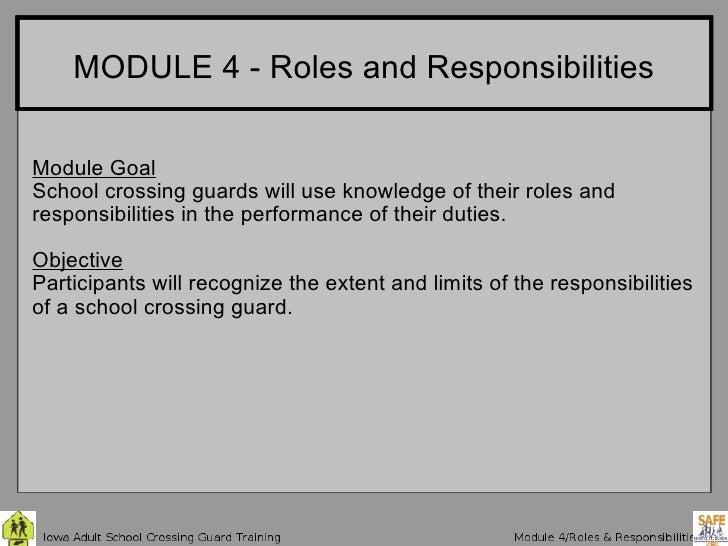 Iowa Crossing Guard Training 4 Roles