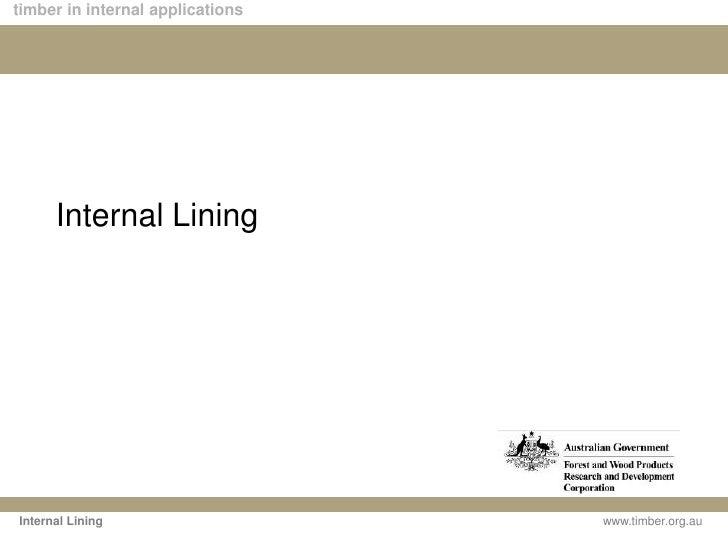 Internal Lining<br />Internal Lining<br />