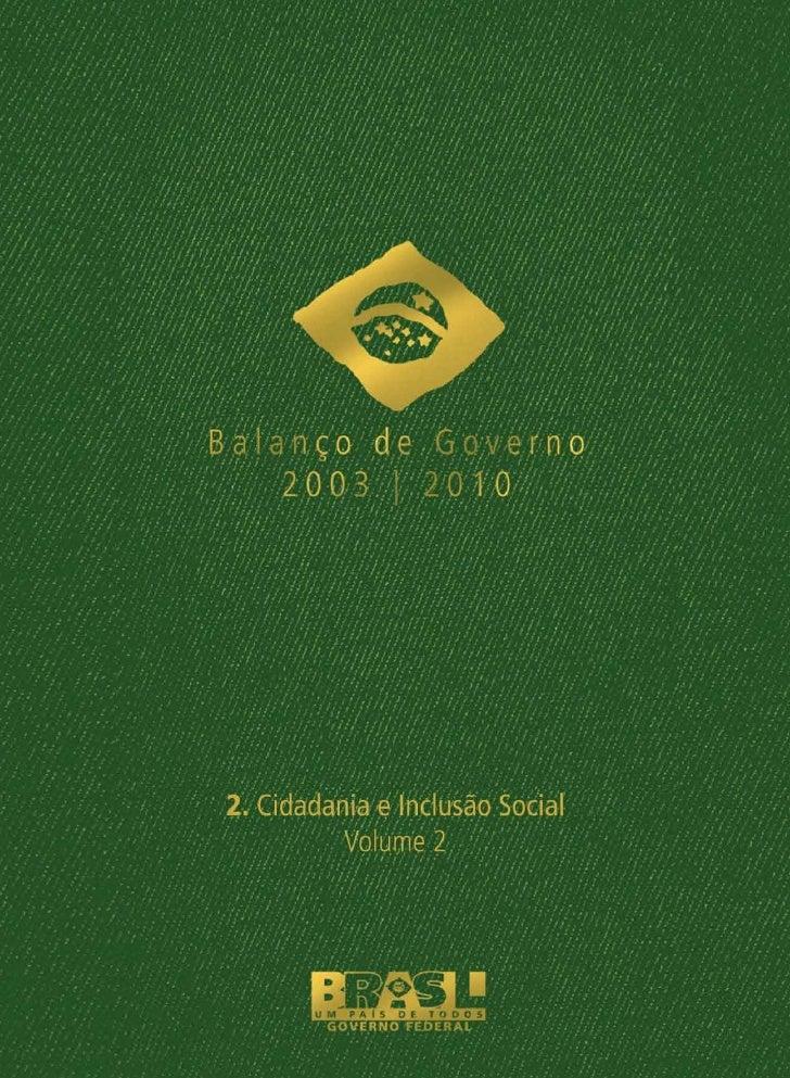 Balanço Final do Governo Lula - livro 4 (Introdução)