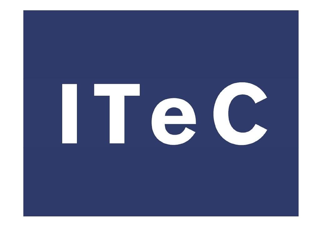 El Instituto de Tecnología de la Construcción de Cataluña – ITeC es una entidad independiente, sin ánimo de lucro, que eje...