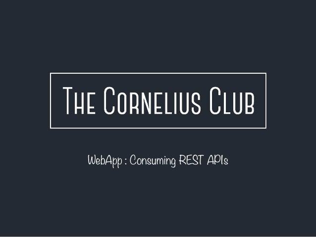 WebApp : Consuming REST APIs