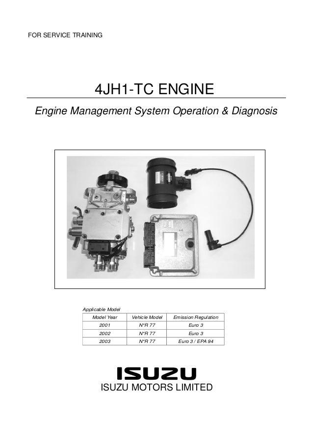 isuzu motors limited workshop manual pdf