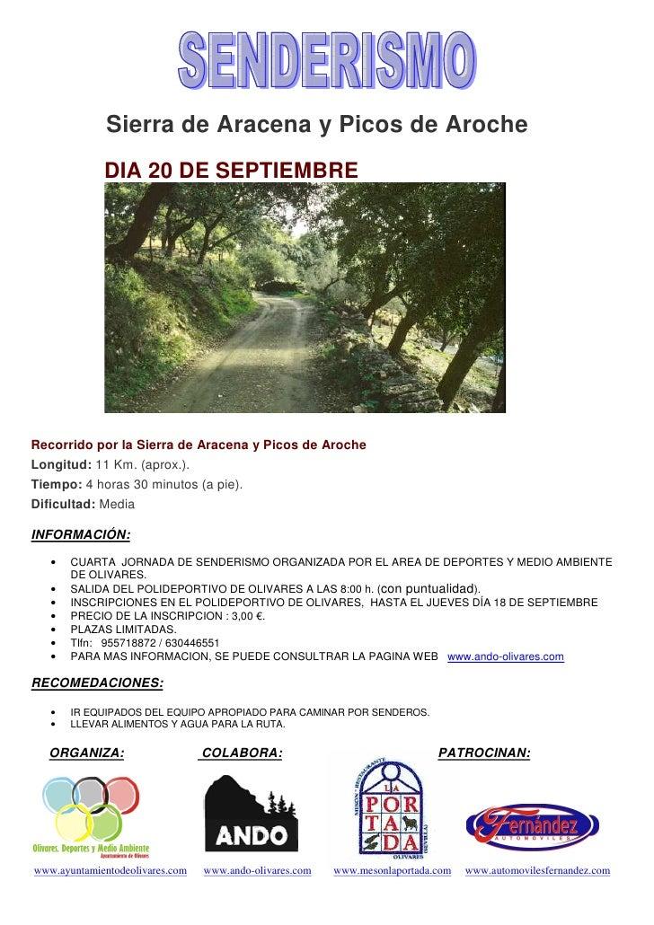 Sierra de Aracena y Picos de Aroche SUB             DIA 20 DE SEPTIEMBRERecorrido por la Sierra de Aracena y Picos de Aroc...
