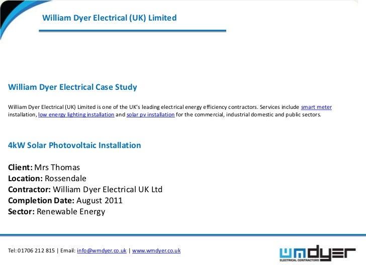 Installation of Domestic Solar PV