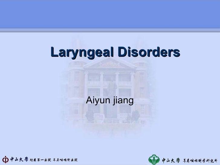 4 laryngeal disorders