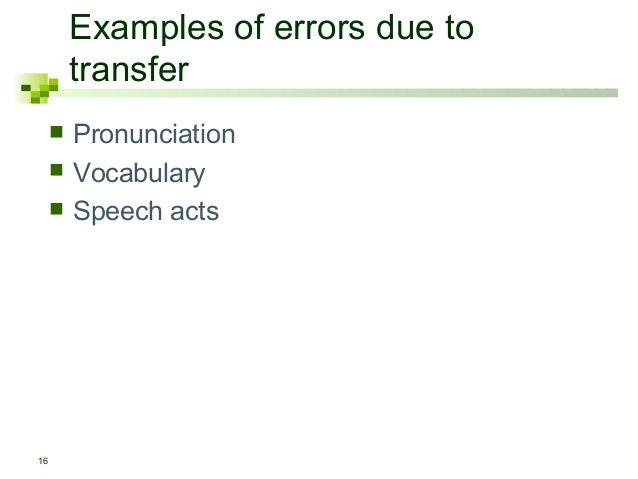 Examples of Errors Due