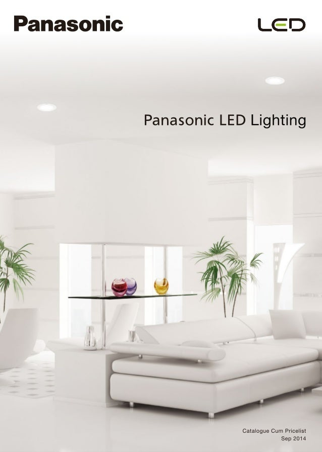 panasonic catalogue pricelist of led luminaires. Black Bedroom Furniture Sets. Home Design Ideas