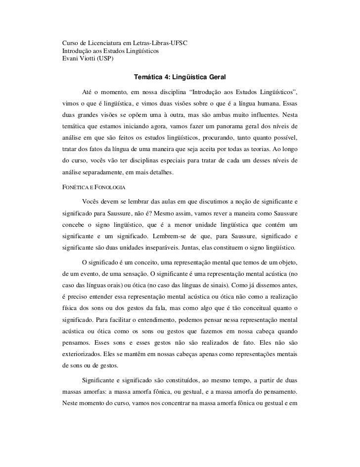 Curso de Licenciatura em Letras-Libras-UFSCIntrodução aos Estudos LingüísticosEvani Viotti (USP)                          ...
