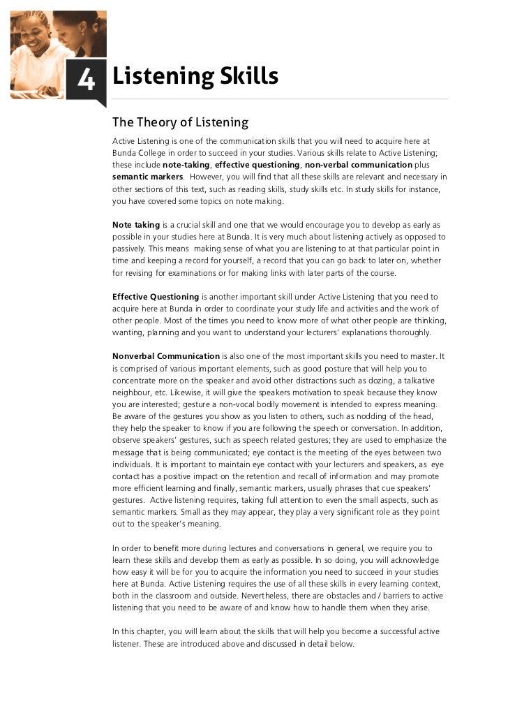 Listening Skills (PDF)