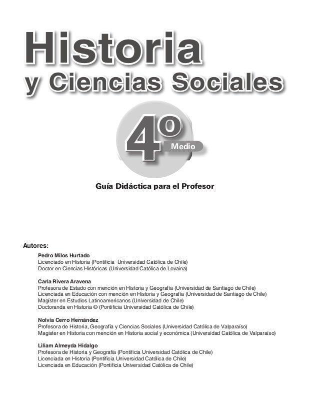 Historiay Ciencias Sociales                                          4º                             Guía Didáctica para el...