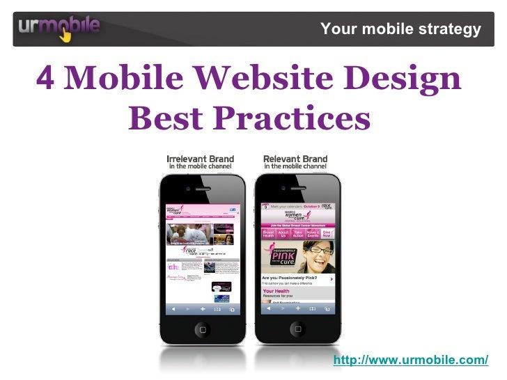 4 Mobile Website Design Best Practices