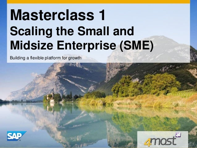 Masterclass 1 Scaling the Small and Midsize Enterprise (SME) Building a flexible platform for growth