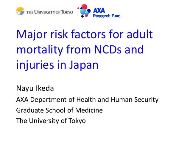 Major risk factors for adult mortality from NCDs and injuries in Japan Nayu Ikeda AXA Department of Health and Human Secur...