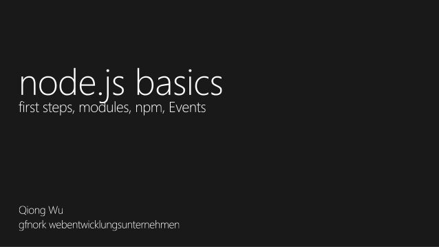 node.js workshop- node.js basics