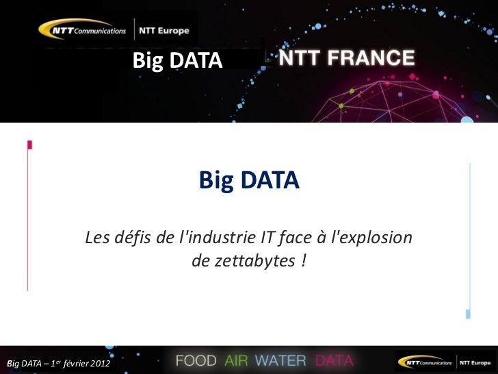 Big DATA                                         Big DATA                        Les défis de lindustrie IT face à lexplos...