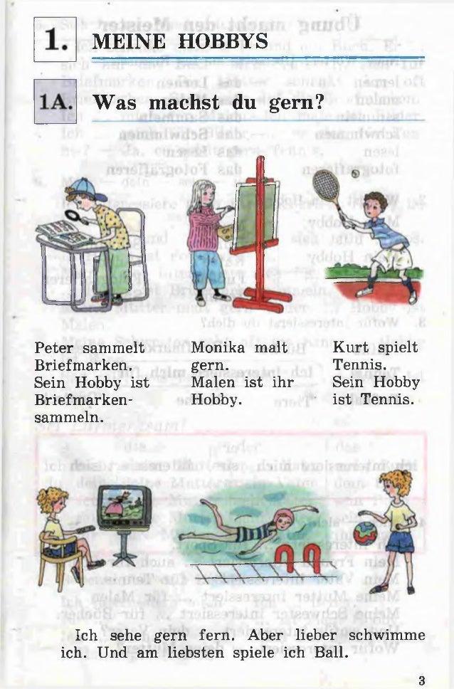 MEINE HOBBYS Was machst du gern? Peter sammelt Briefmarken. Sein Hobby ist Briefmarken sammeln. Monika malt gern. Malen i...