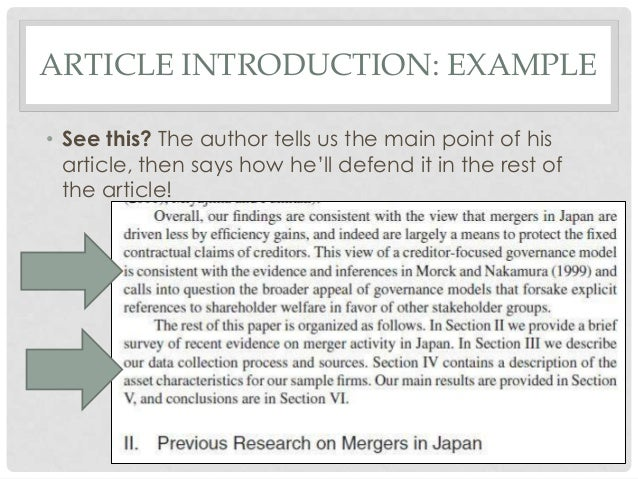 How to write an academic journal article