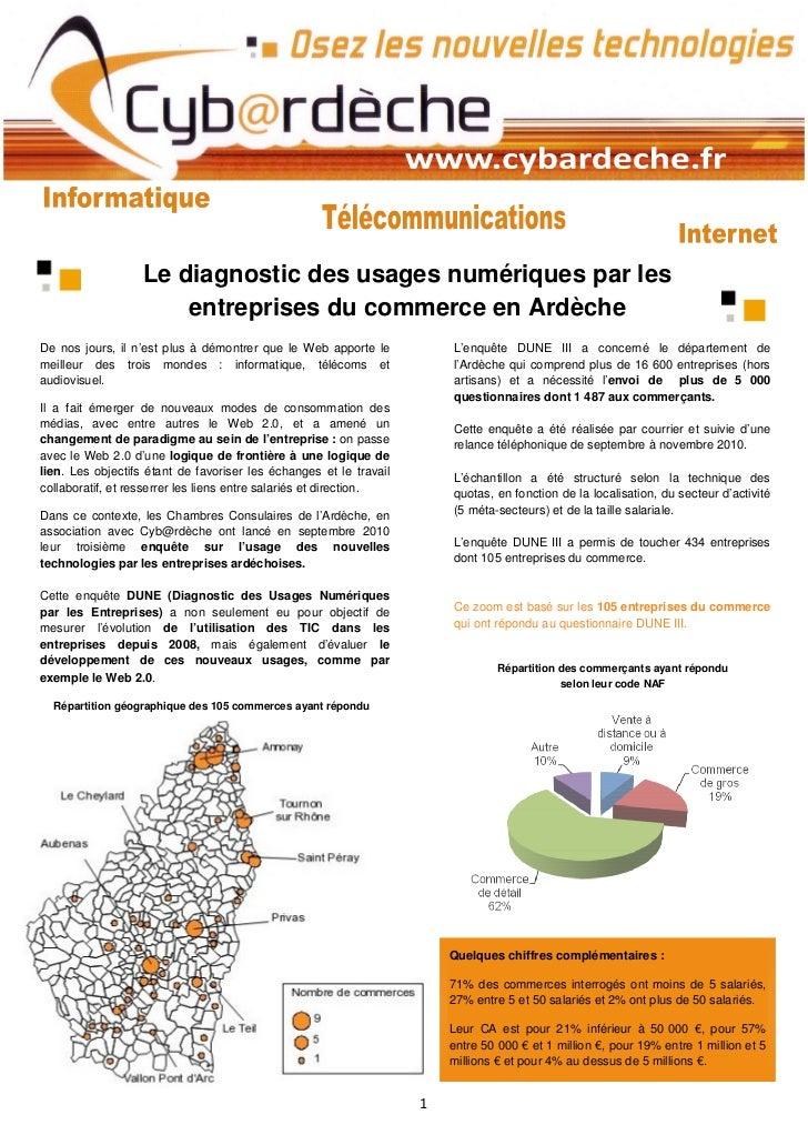 Le diagnostic des usages numériques par les                       entreprises du commerce en ArdècheDe nos jours, il n'est...