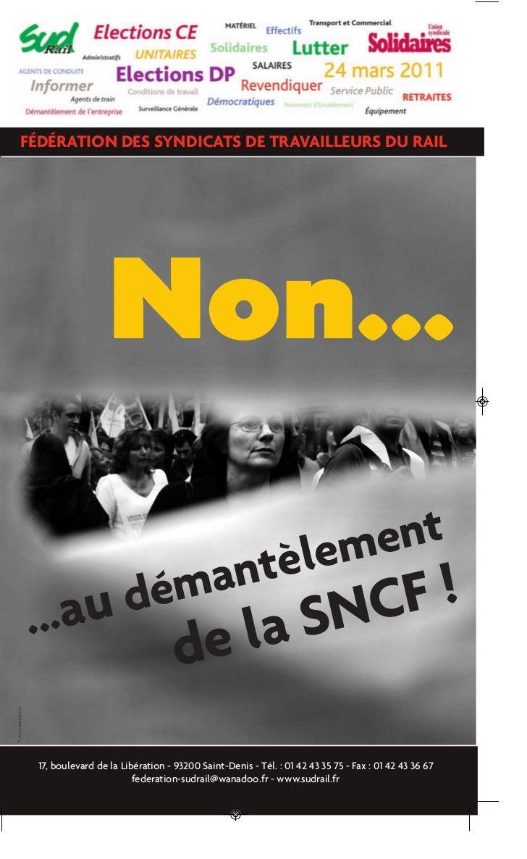 NON au démantèlement de la SNCF !