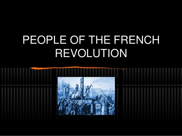 people of the french revolution