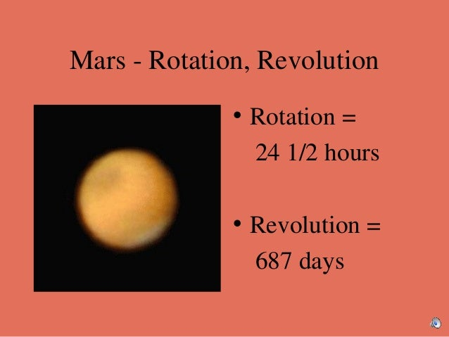 rotation and revolution of planets
