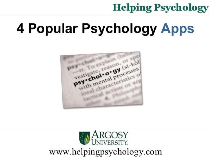 4 Popular Psychology Apps