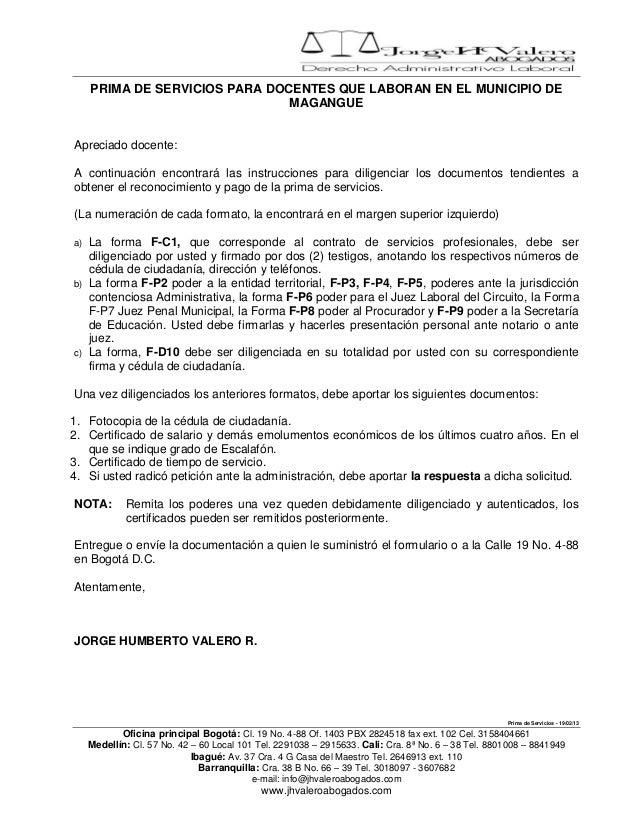PRIMA DE SERVICIOS PARA DOCENTES QUE LABORAN EN EL MUNICIPIO DE                                MAGANGUEApreciado docente:A...