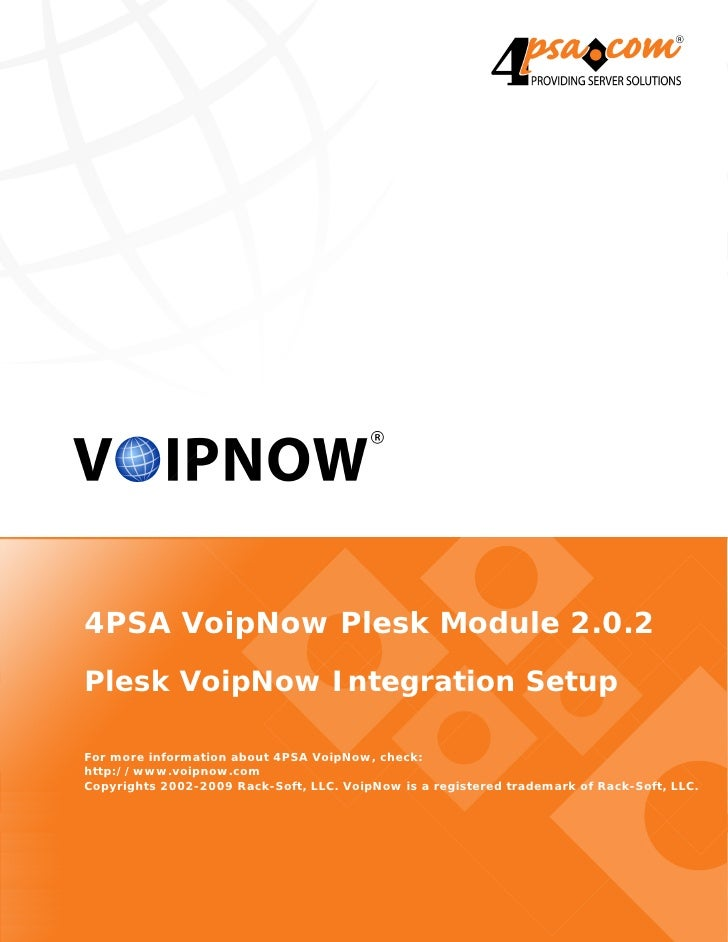 4PSA VoipNow Plesk Module 2.0.2
