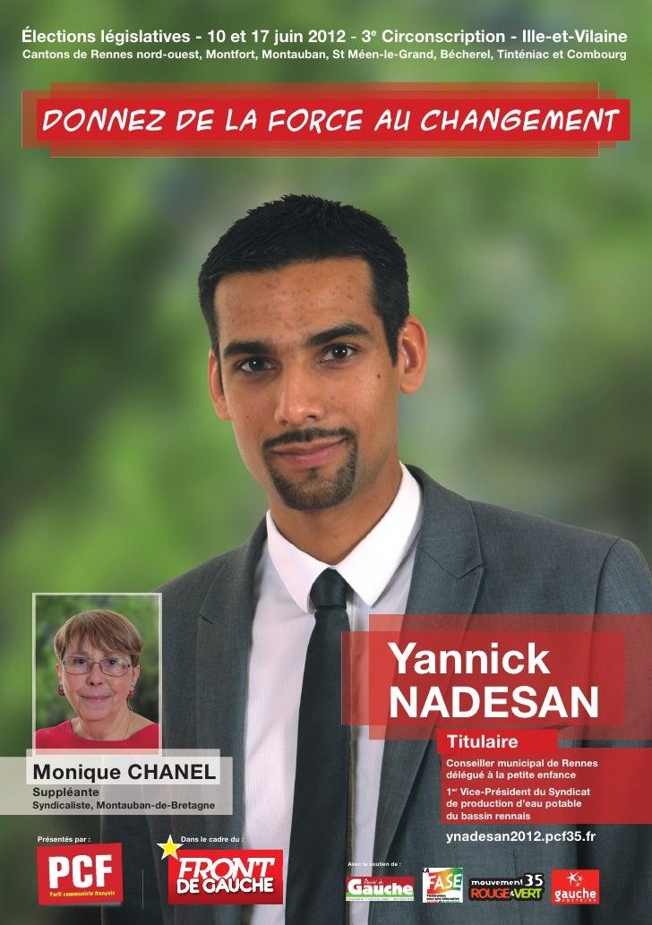 Élections législatives - 10 et 17 juin 2012 - 3e Circonscription - Ille-et-VilaineCantons de Rennes nord-ouest, Montfort, ...
