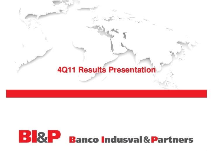 4Q11 Results Presentation