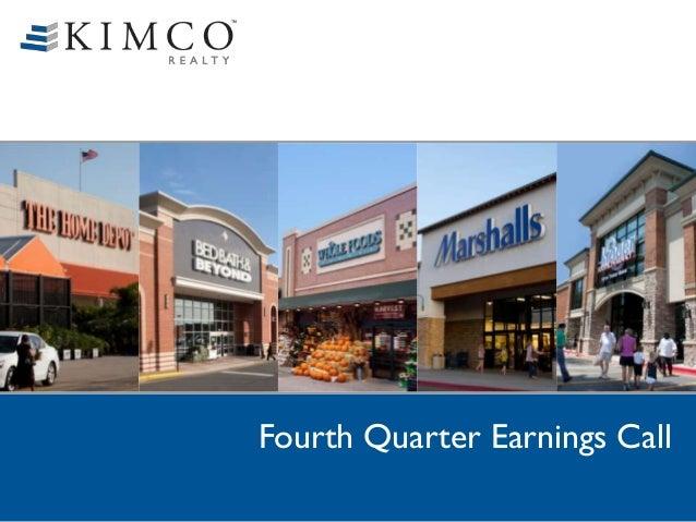 Fourth Quarter Earnings Call