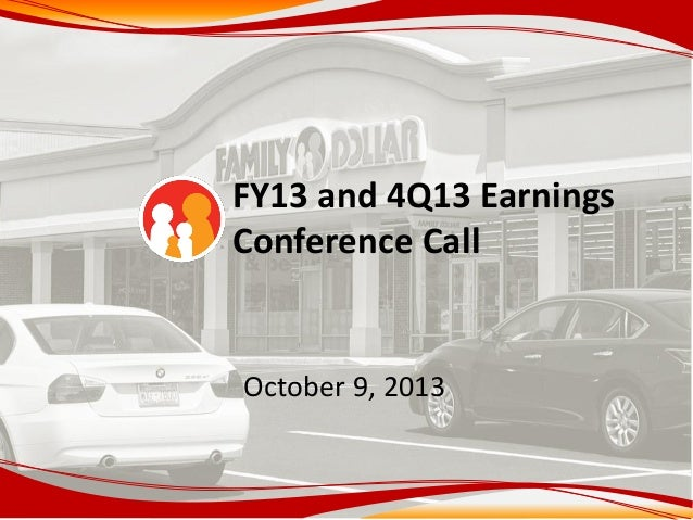 FY13 and 4Q13 Earnings Conference Call October 9, 2013