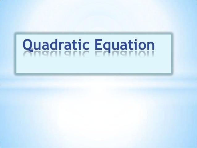 First Quarter - Chapter 2 - Quadratic Equation