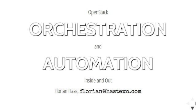 heat orchestration With this article i begin a series of hands-on developer oriented blog posts that explore openstack orchestration using heat to make the most of this article, i recommend that you have an openstack installation where you can run the examples i present below you can use our rackspace private cloud.