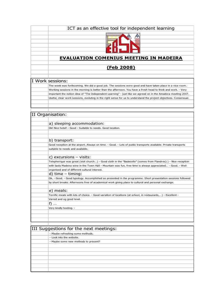 4ªReuniao Eb23sa_Funchal2008 Feb Evaluation Mad2008