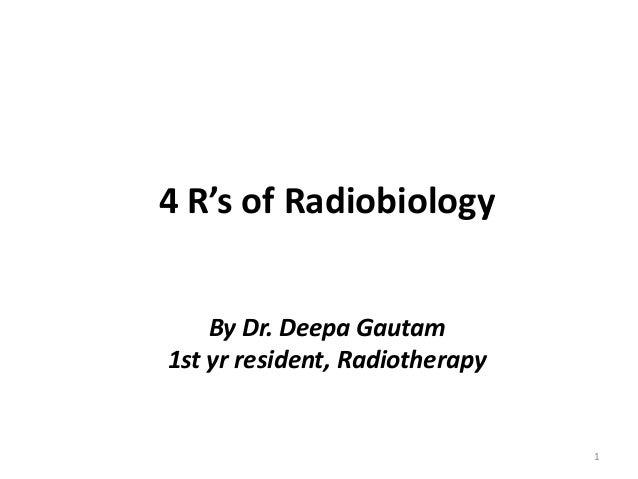 4 rs of radiobiology