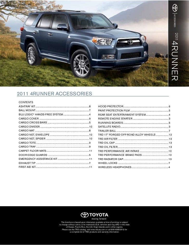 2011 Toyota 4runner Accessories Dallas
