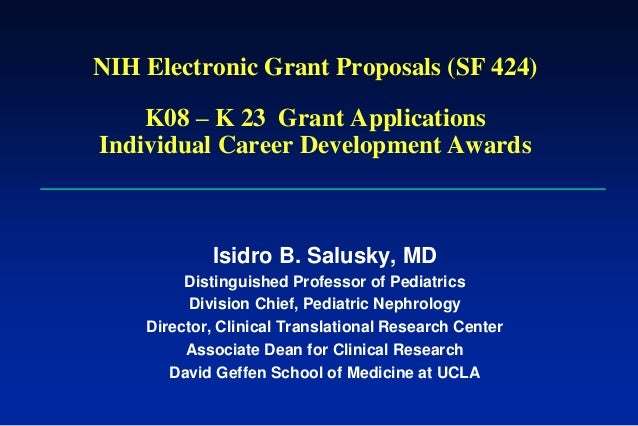NIH Electronic Grant Proposals (SF 424)