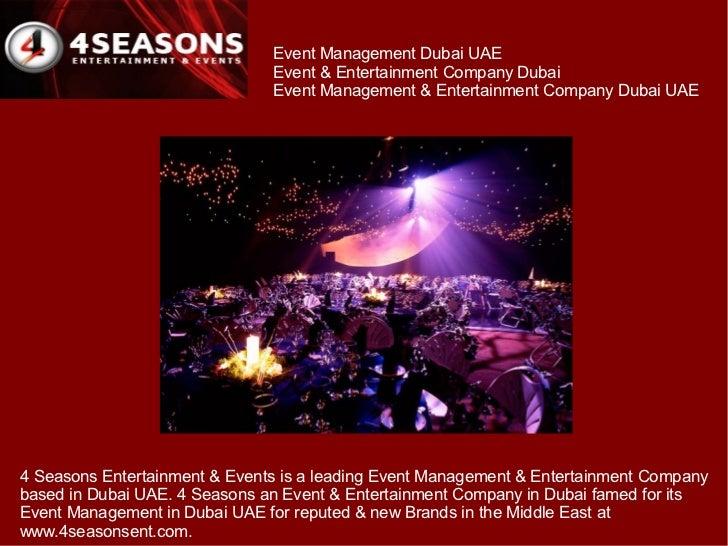 Event Management Dubai UAE                               Event & Entertainment Company Dubai                              ...
