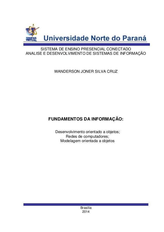 4 semestre trabalho individual analise e desenvolvimento de sistemas 2014