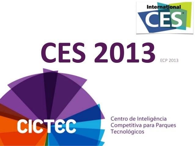 CES 2013  ECP 2013